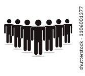 people icon  vector... | Shutterstock .eps vector #1106001377