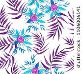 fresh spring flowers seamless... | Shutterstock . vector #1106006141