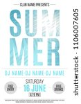summer party flyer. background... | Shutterstock .eps vector #1106007605