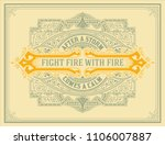 retro design. banner and frame... | Shutterstock .eps vector #1106007887