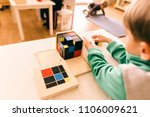 boys and girls students in a... | Shutterstock . vector #1106009621