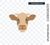 cow head vector icon isolated... | Shutterstock .eps vector #1106018255