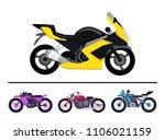 modern motorcycles design... | Shutterstock .eps vector #1106021159