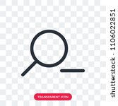 zoom out vector icon isolated... | Shutterstock .eps vector #1106022851
