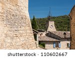 old town of cucuron in provence ... | Shutterstock . vector #110602667