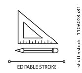 triangular ruler with pencil...   Shutterstock .eps vector #1106028581