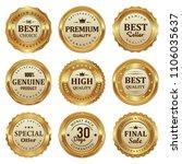 set golden badges and labels | Shutterstock .eps vector #1106035637