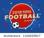 speech bubble with word russia... | Shutterstock .eps vector #1106035817