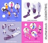 bionic prosthesis 4 isometric... | Shutterstock .eps vector #1106047841