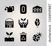 ecology icon set. door  closeup ... | Shutterstock .eps vector #1106049887