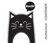 black cat. vector illustration | Shutterstock .eps vector #1106050859