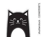 black cat. vector illustration | Shutterstock .eps vector #1106050871