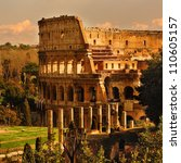 View Of Rome  Italy   Coliseum.