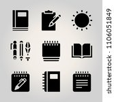 basic icon set. novel  bass ... | Shutterstock .eps vector #1106051849