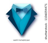 happy fathers day greeting card.... | Shutterstock .eps vector #1106054471