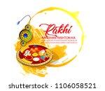 raksha bandhan festival... | Shutterstock .eps vector #1106058521