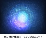 fingerprint scanning technology.... | Shutterstock .eps vector #1106061047