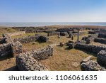 roman ruins of histria citadel. ... | Shutterstock . vector #1106061635