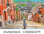 Montagne de Bueren, a 374-step staircase in Liege - Belgium