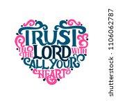hand lettering trust in the... | Shutterstock .eps vector #1106062787