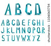 big letters of alphabet from... | Shutterstock .eps vector #1106065754