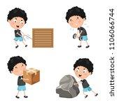vector illustration of kids... | Shutterstock .eps vector #1106066744