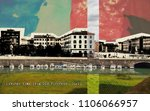 view at livorno town from old... | Shutterstock . vector #1106066957