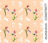 stylized seamless background... | Shutterstock . vector #1106070077