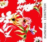 seamless wallpaper with wild... | Shutterstock . vector #1106070104