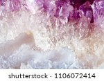 Amethyst. The Texture Of The...