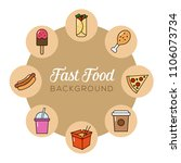fast food background. can... | Shutterstock .eps vector #1106073734