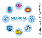 medical background with icons   ... | Shutterstock .eps vector #1106073761