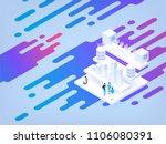 abstract isometric illustration.... | Shutterstock .eps vector #1106080391
