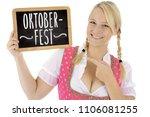 Blond German Woman In Dirndl O...