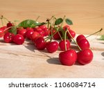 fresh cherry group with leaves... | Shutterstock . vector #1106084714