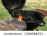 modern barbecue grill with fire ... | Shutterstock . vector #1106086511