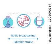 radio broadcasting concept icon....   Shutterstock .eps vector #1106090369
