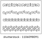 this is set of a metal forged... | Shutterstock .eps vector #1106098091