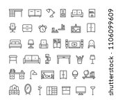 furniture line icons.... | Shutterstock .eps vector #1106099609