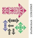 floral arrows vector. arrow... | Shutterstock .eps vector #110610065