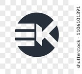 ek ke vector icon isolated on... | Shutterstock .eps vector #1106101391