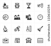 school and education icons  ... | Shutterstock .eps vector #110610254