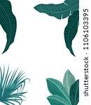 vector tropical jungle... | Shutterstock .eps vector #1106103395