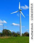 Small photo of Wind turbine on Yorkshire moors beside Emley Moor Mast