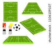 soccer football fields...   Shutterstock .eps vector #1106109107