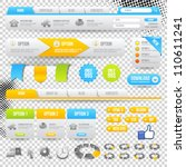 web elements. site navigation... | Shutterstock .eps vector #110611241