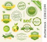 vector organic food  eco  bio... | Shutterstock .eps vector #110611244