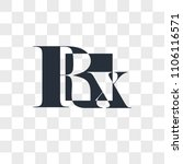 rx vector icon isolated on... | Shutterstock .eps vector #1106116571