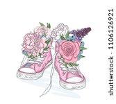 beautiful sneakers. vector... | Shutterstock .eps vector #1106126921