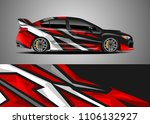 car decal vector  graphic... | Shutterstock .eps vector #1106132927